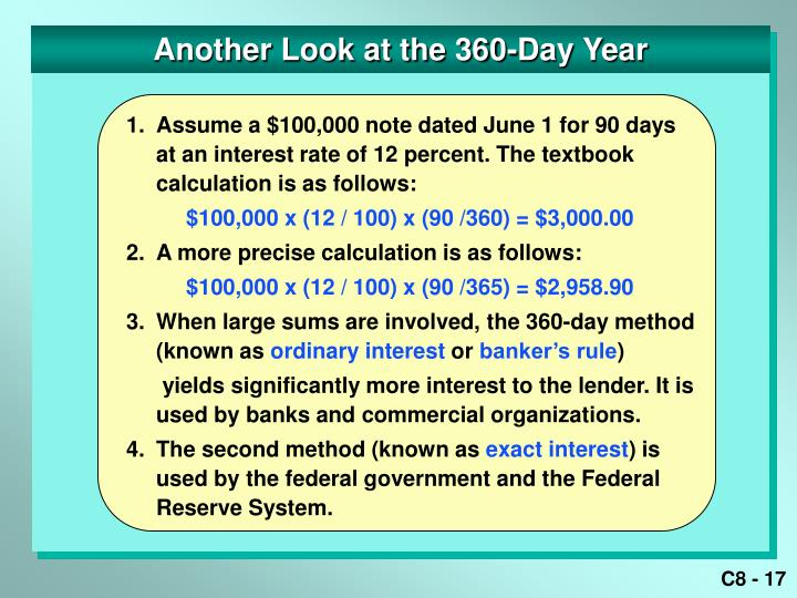 Another Look at the 360-Day Year