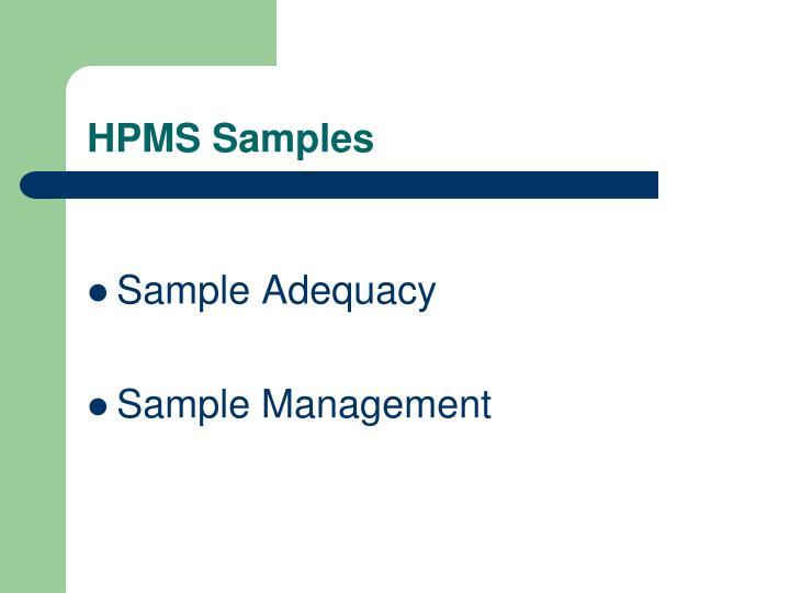 HPMS Samples