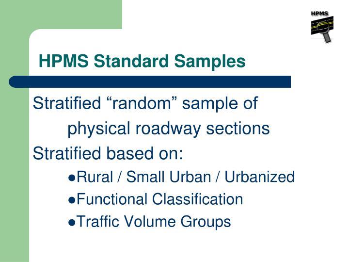 HPMS Standard Samples