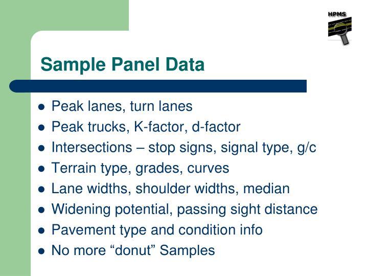 Sample Panel Data
