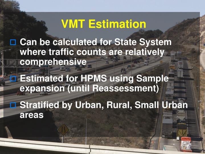VMT Estimation