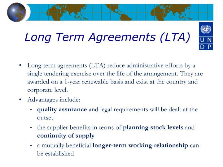 Long Term Agreements (LTA)