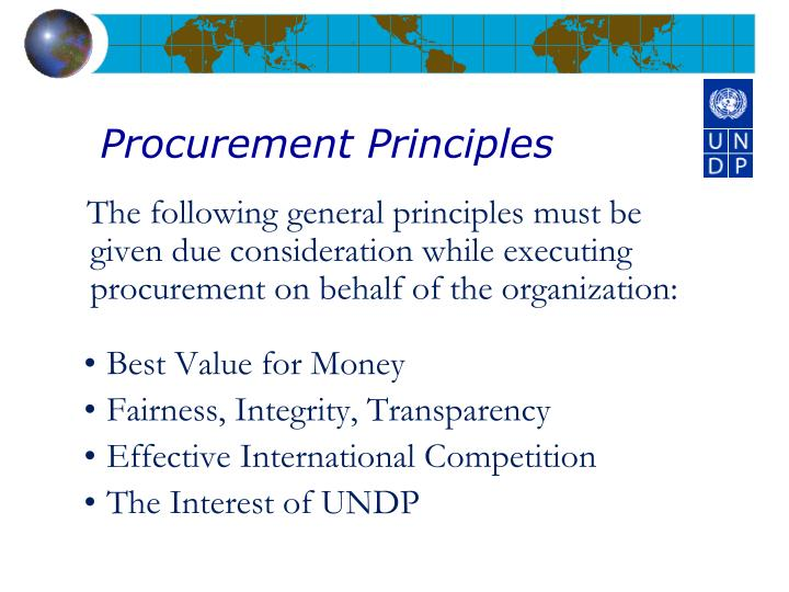 Procurement Principles