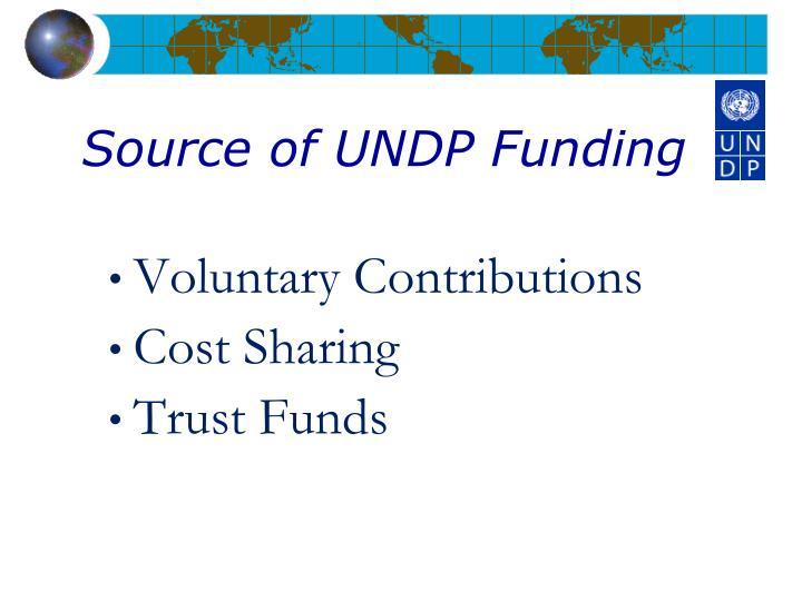 Source of UNDP Funding