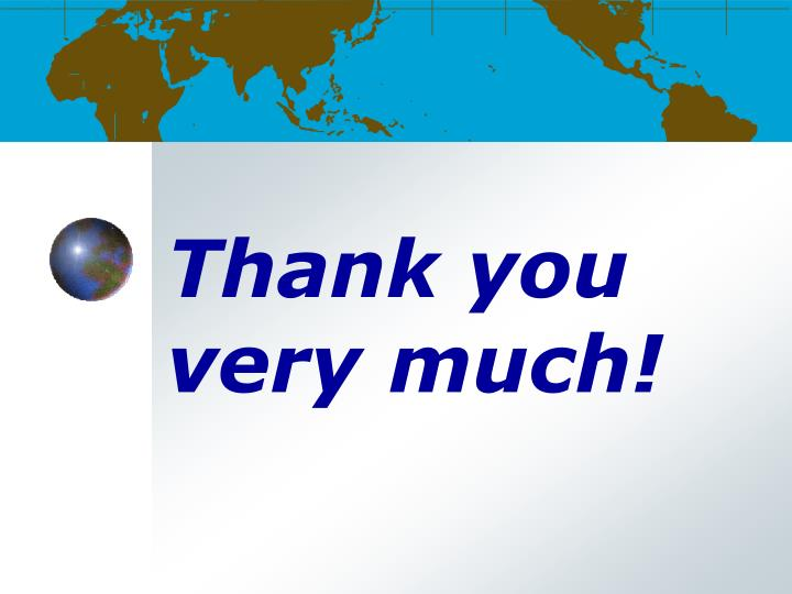 Thank you very much!