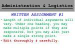 administration logistics5