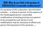 dq16 what do you think is the purpose of 3604 f 3 a reasonable modifications