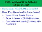 dq22 applying other authority to facts of shack1