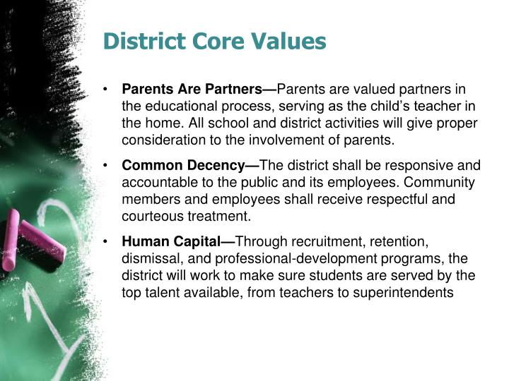 District Core Values