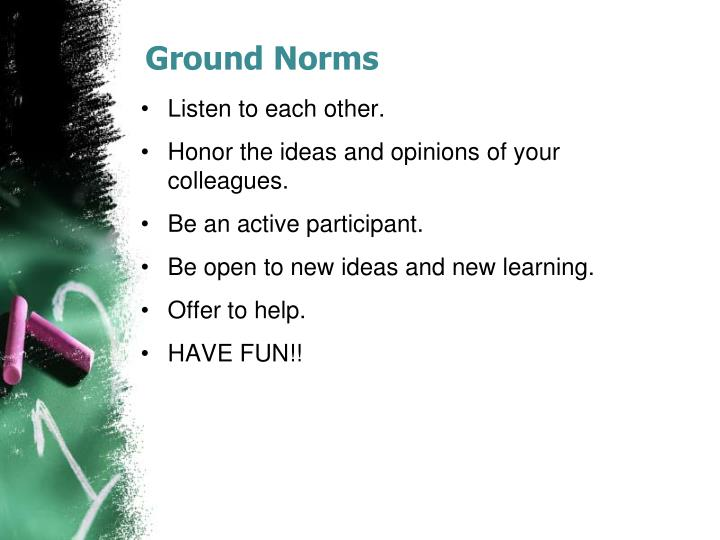Ground norms