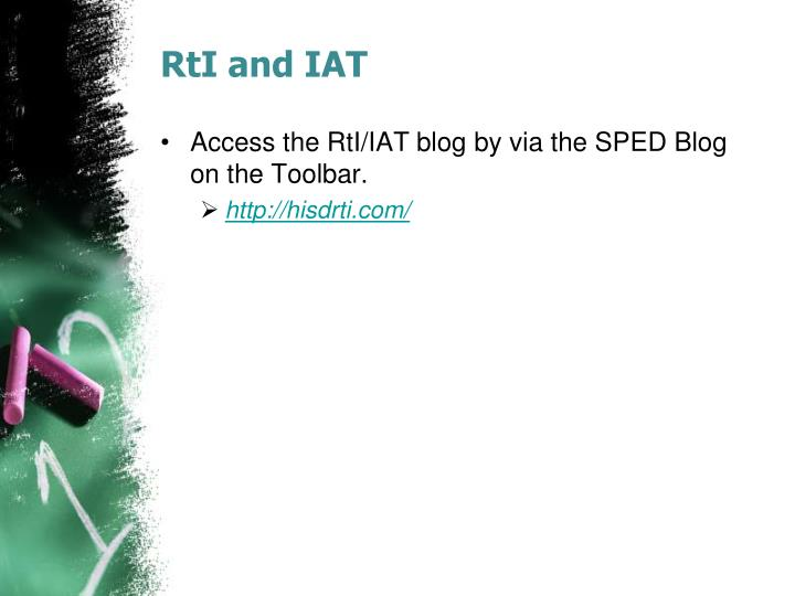 RtI and IAT