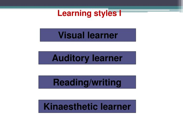 Learning styles I