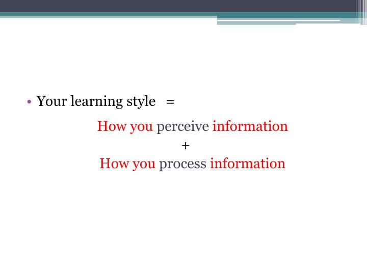 Your learning style   =