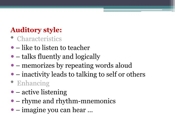 Auditory style: