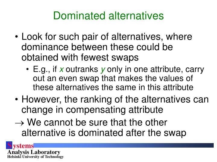 Dominated alternatives