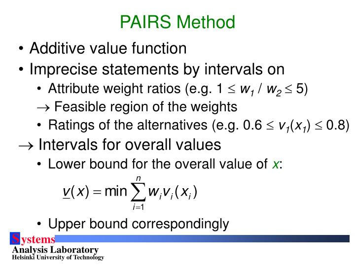 PAIRS Method