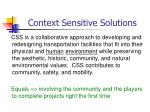 context sensitive solutions1