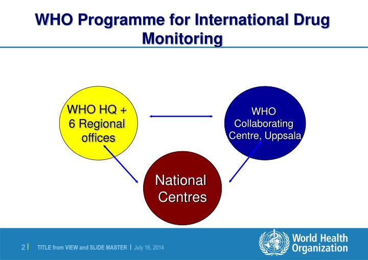 Who programme for international drug monitoring