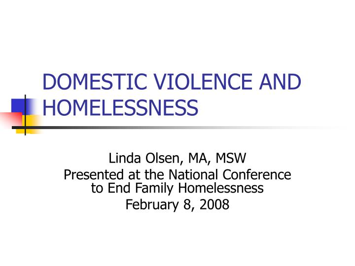 domestic violence and homelessness n.