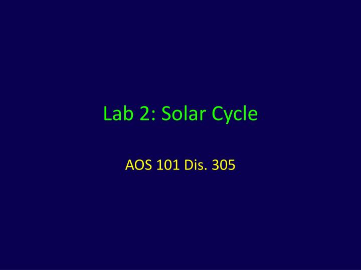 lab 2 solar cycle n.