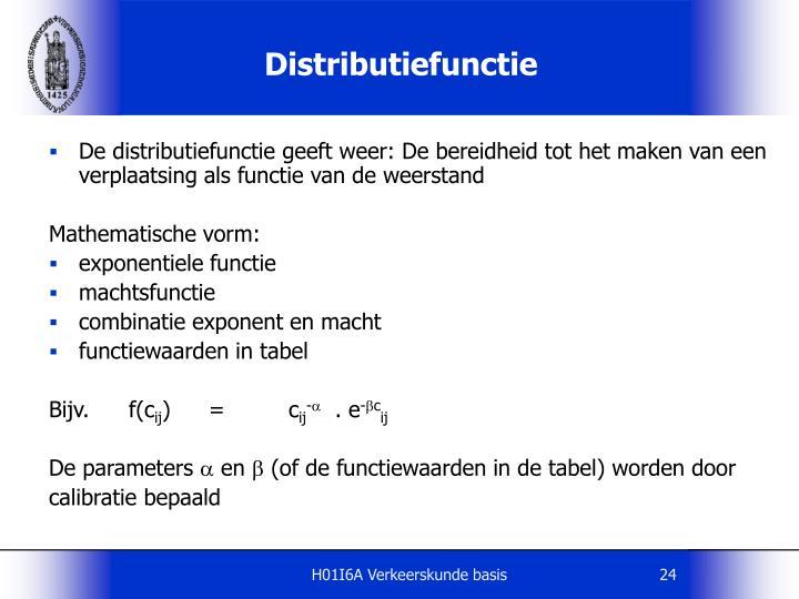 Distributiefunctie