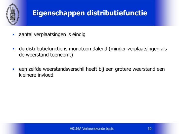 Eigenschappen distributiefunctie
