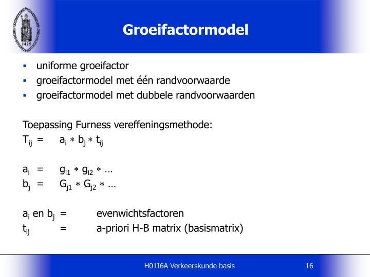 Groeifactormodel