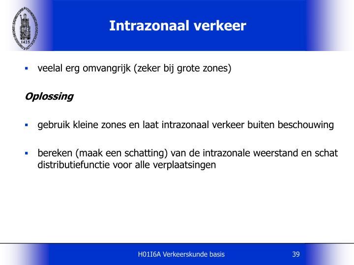 Intrazonaal verkeer