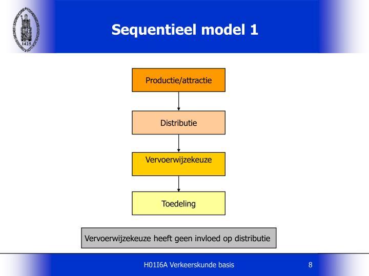 Sequentieel model 1