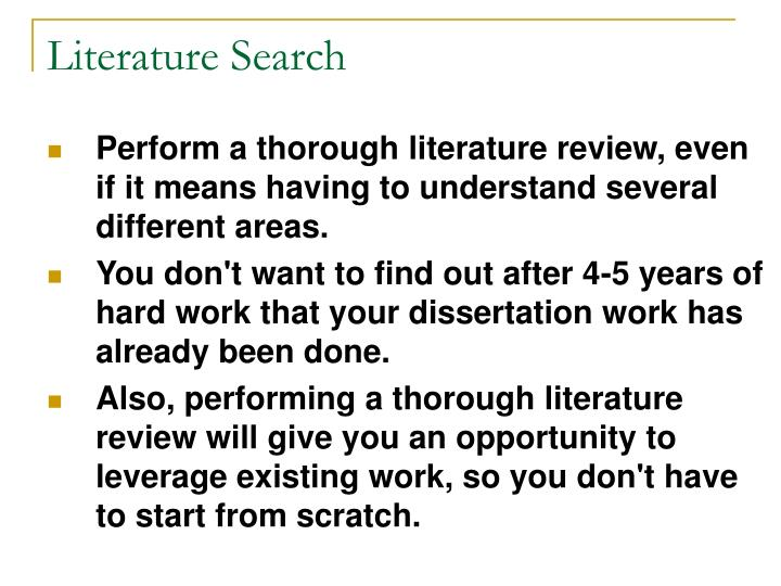 meaning of literature review in dissertation