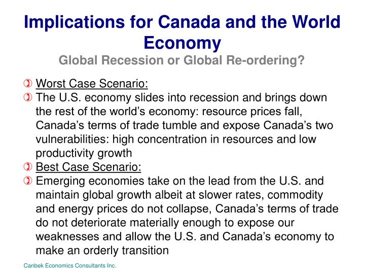 Implications for Canada and the World Economy