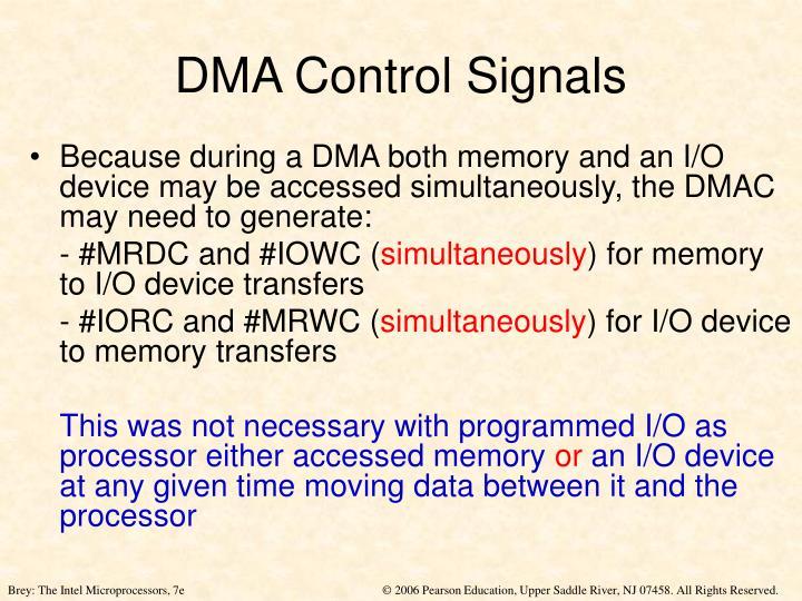 DMA Control Signals