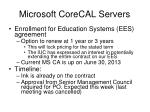 microsoft corecal servers
