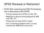 spss renewal or retirement