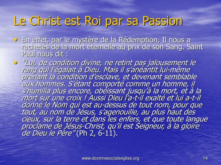 Le Christ est Roi par sa Passion