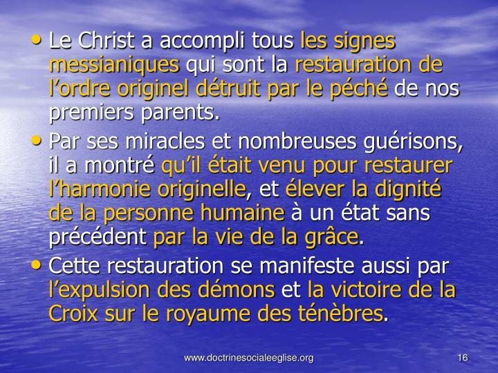 Le Christ a accompli tous