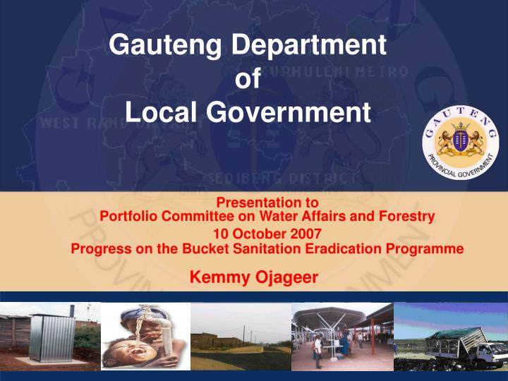gauteng department of local government n.
