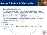 strategic role of the gp municipalities