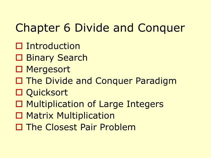 chapter 6 divide and conquer n.