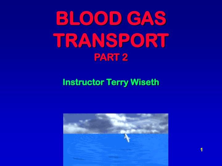 blood gas transport part 2 instructor terry wiseth n.