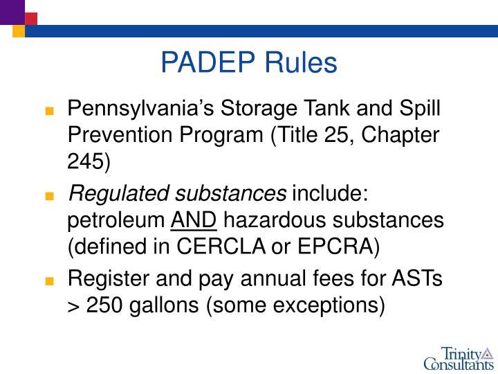 PADEP Rules