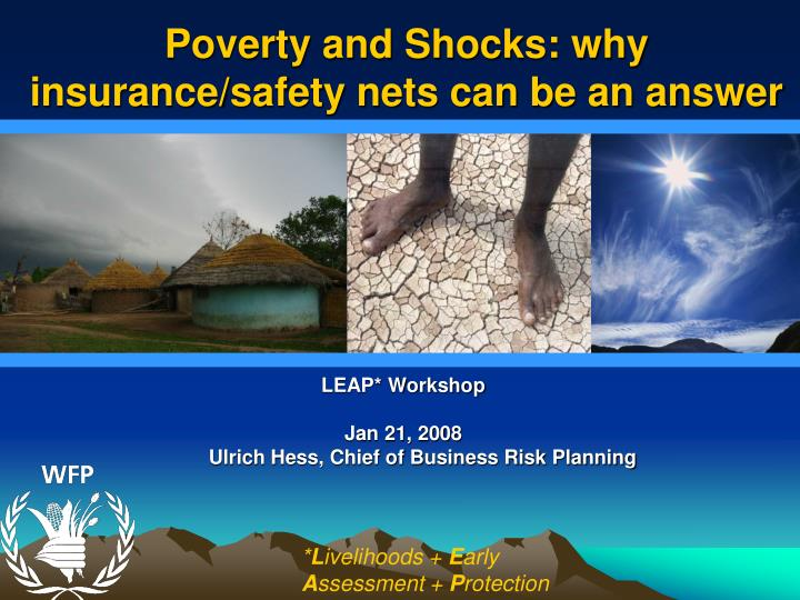 poverty and shocks why insurance safety nets can be an answer n.