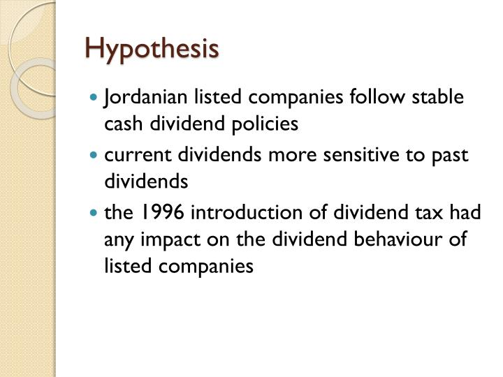report about dividend policy of any company introduction