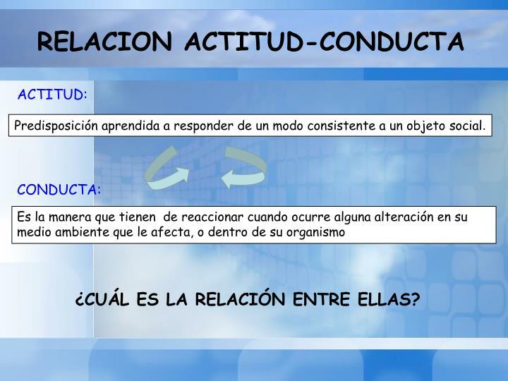 RELACION ACTITUD-CONDUCTA