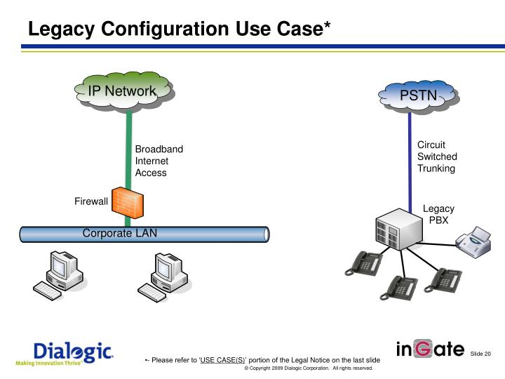 Legacy Configuration Use Case*