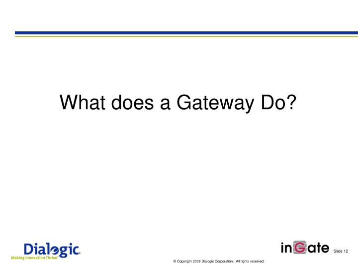 What does a Gateway Do?