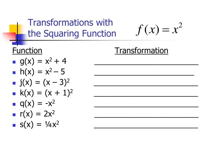 Transformations with