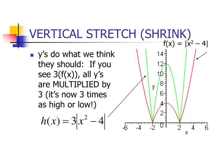 VERTICAL STRETCH (SHRINK)