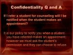 confidentiality q and a1