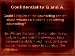 confidentiality q and a3